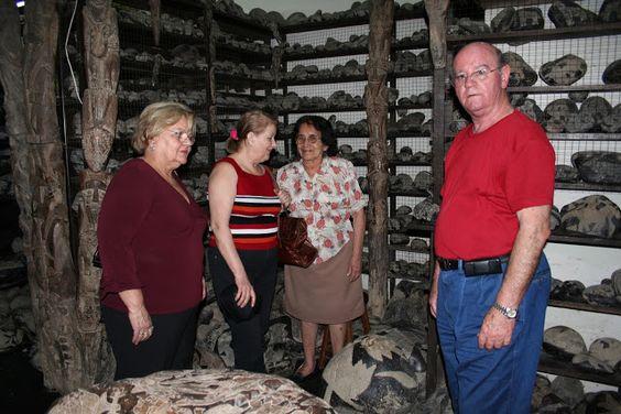 El Museo del Dtor Cabrera estaba cerrado pero en el hotel nos dieron el teléfono de su secretaria que nos abrió y enseñó las piedaras.
