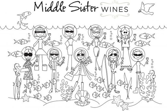 Middle Sister Summer 2016 Coloring Page