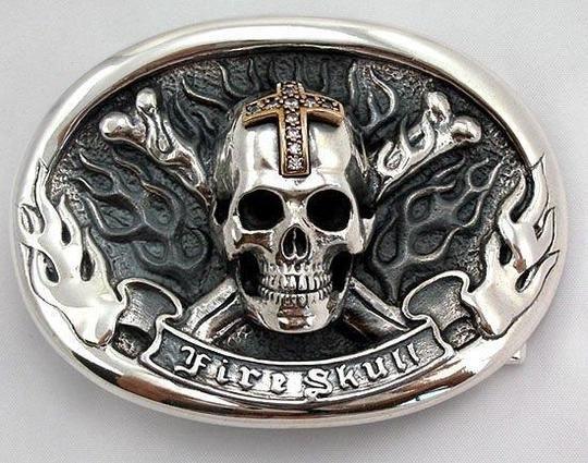 1 x mens belt buckle metal skull motorcycle bikie biker skeleton head jeans new