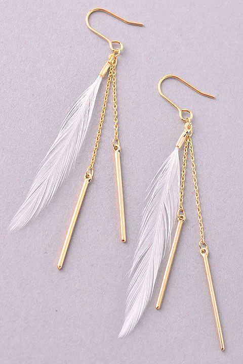 Feather  Rose Gold P   Magnetic earring Look like pierce