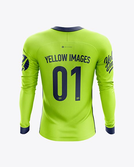 Download Men S Soccer Jersey Ls Mockup Back View In Apparel Mockups On Yellow Images Object Mockups Clothing Mockup Shirt Mockup Mens Soccer
