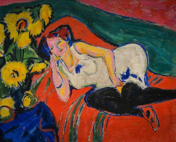 Ernst Ludwig Kirchner | 1880-1938, Germany | Reclining woman, 1909 | Städel Art Museum, Frankfurt