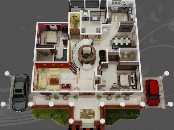 Floor plans design web and floors on pinterest for Wohnung design 3d