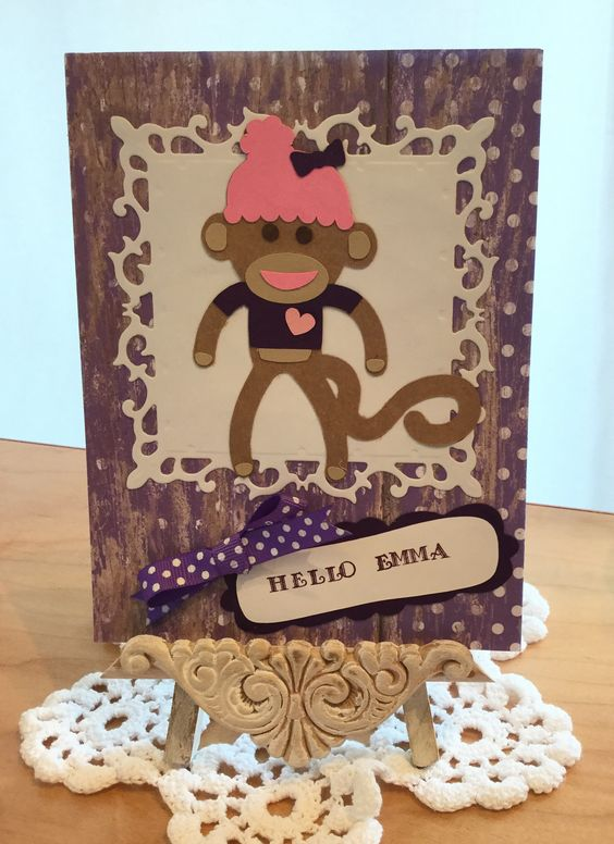 Hello Card / Made with Spellbinders Fleur De Lis Squares, also Cricut Sugar and Spice and Formal Occasion Cartridges / Handcrafted By Cindy Babich (Cindyswishestogive 2016)
