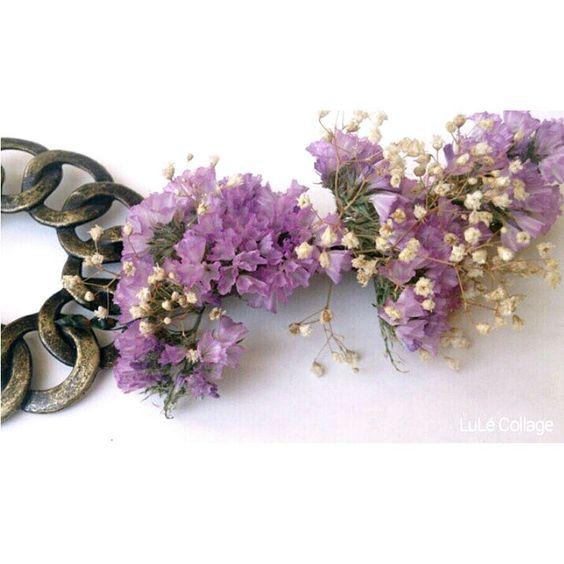 Tocado flores secas Coronas de flores LuLé Collage Pinterest - flores secas
