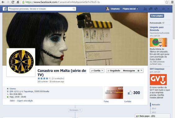 SÉRIE CANASTRA EM MALTA - 2013 Página no Facebook  https://bit.ly/canastra-fb Criação de conteúdo e mobilização como uma das administradoras da página no Facebook, em 2013.