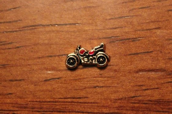 Motorcycle - Floating charm for glass locket, living locket, fits Origami Owl on Etsy, $1.59