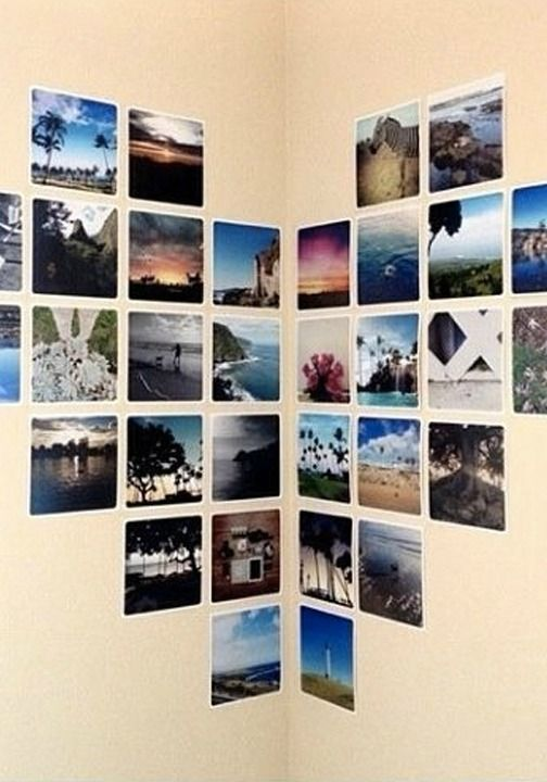 21 easy diy projects to make your dorm room amazing pinterest photo displays inspiration - Bedroom decoration diy ...