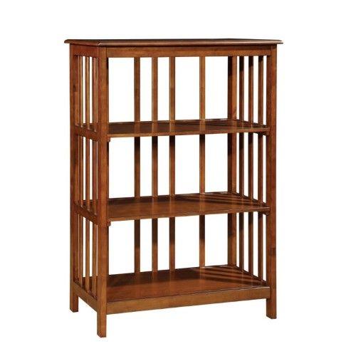 Furniture Of America Lester 3 Shelf Bookcase In Oak Furniture Of