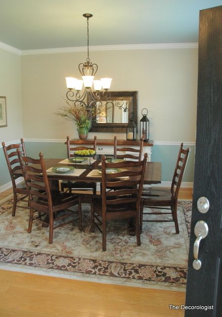paint colors for dining room with chair rail dining room
