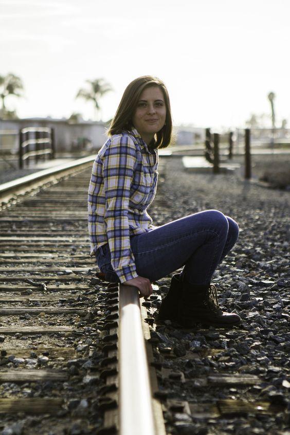 Railroad Senior Portrait - Claire Laminen Photography