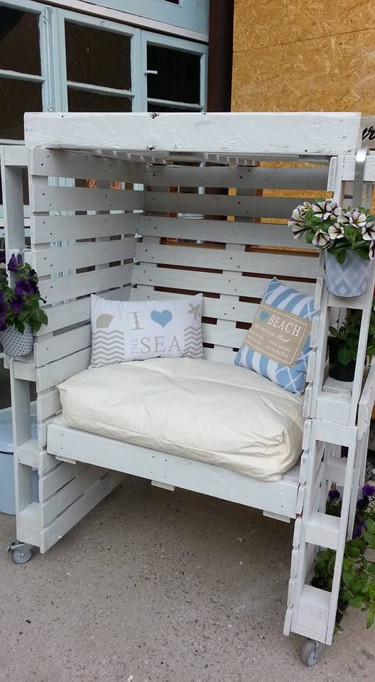 paletten strandkorb mehr garten idee pinterest. Black Bedroom Furniture Sets. Home Design Ideas
