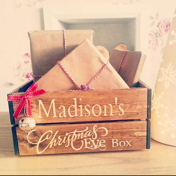 Beautiful Christmas Eve boxes available for 2015   GIFTS SHOWN IN PHOTOS ARE FOR DISPLAY PURCHASES ONLY AND ARE NOT INCLUDED!   Measurements
