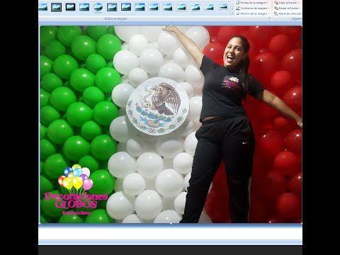 Como hacer la Bandera de México con globos paso a paso ¡Ganador! - YouTube