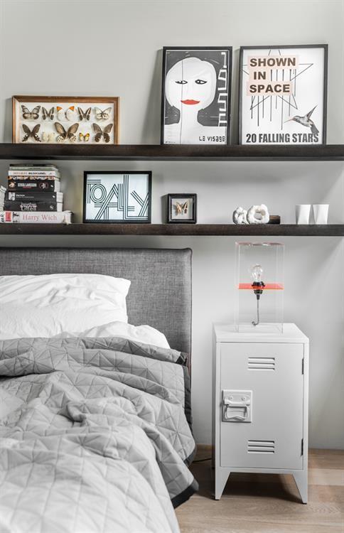 en meer grijze slaapkamer nachtkastjes lockers gray slaapkamers ...