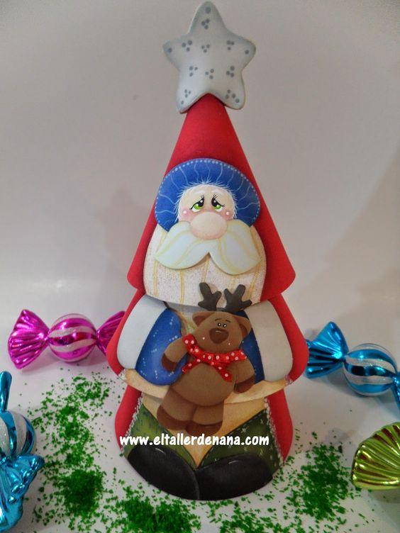 Rbol de navidad elaborado en foami goma eva navidad - Manualidades navidad goma eva ...