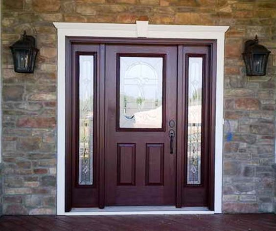 Front door with sidelights modern entry doors with sidelights lowes entry doors with for Lowes exterior doors with sidelites