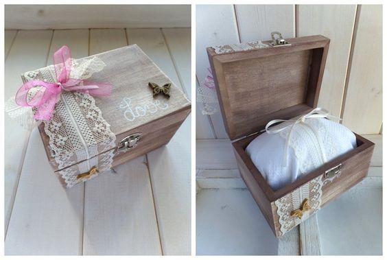 Ringkissen - Vintage Ringschatulle groß Schmetterling - ein Designerstück von Loveli-Hochzeitsplanung bei DaWanda