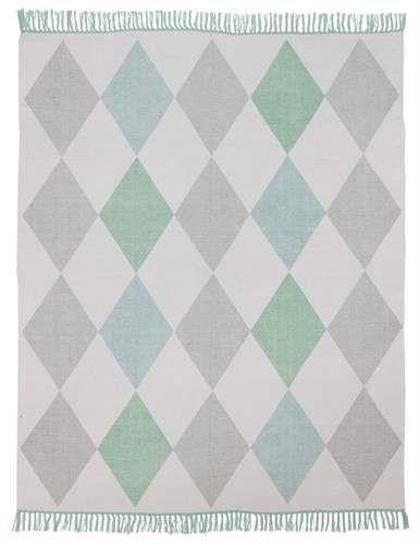 Jox, Matta i bomull, 130 x 170 cm, Blå Mattor Textilier Barnrum på ...