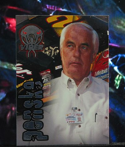 http://nascarniche.blogspot.com/  Rodger Penske Team Owner 1996 Wheels Viper Trading Card #36 Base Set Nascar