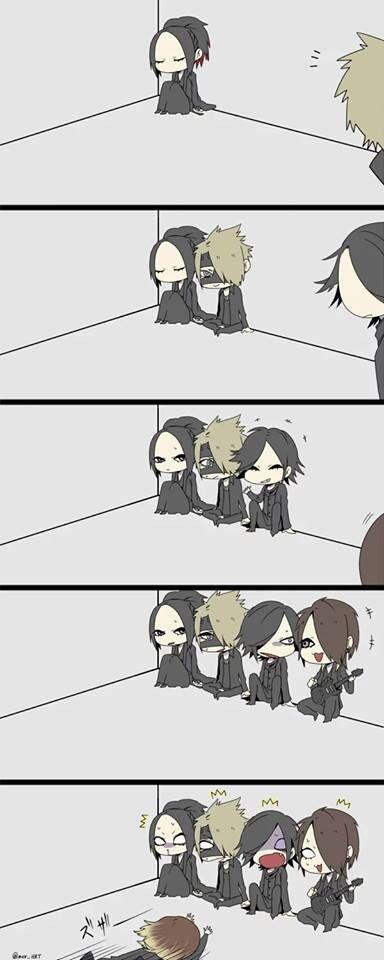 Ruki. Reita. Aoi. Uruha and Kai. the GazettE. Ohmigosh! Kai at the end! Lol! >ω<