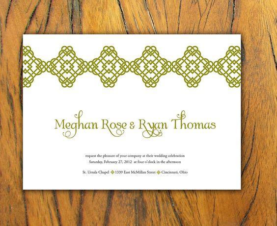 Celtic heart irish wedding invitation set on recycled for Etsy wedding invitations ireland