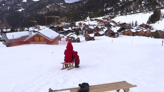 Sledding in Malbun Liechtenstein - kids snow playground