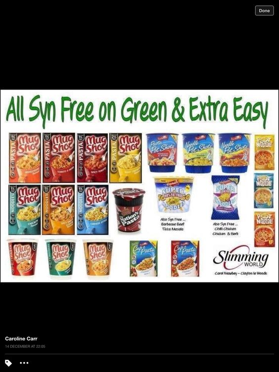 Slimming world syns or free foods branded grab and go Slimming world slimming world