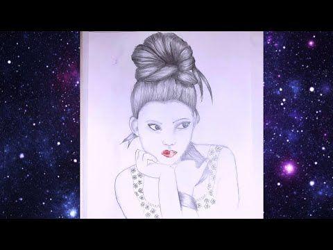 تعليم الرسم بالرصاص رسم فتاة بتسريحة شعر جميلة How To Draw A Girl With Messy Bun Hair Youtube Pencil Sketch Art Anime