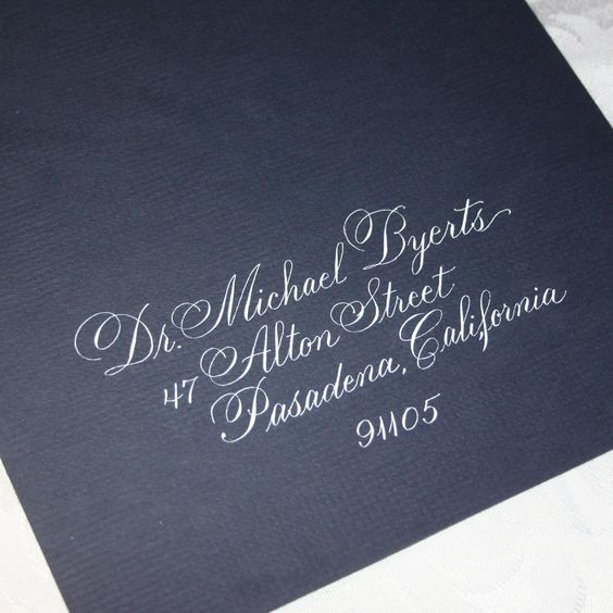 Calligraphy Wedding Envelopes And Envelope Addressing On