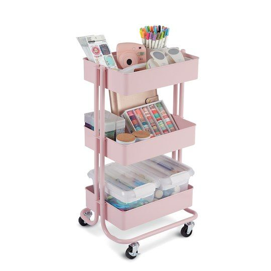 Find The Lexington Blush 3 Tier Rolling Cart By Recollections At