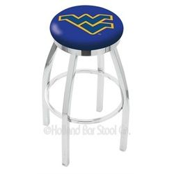West Virginia Mountaineers Barstool Chrome Kitchen Chair