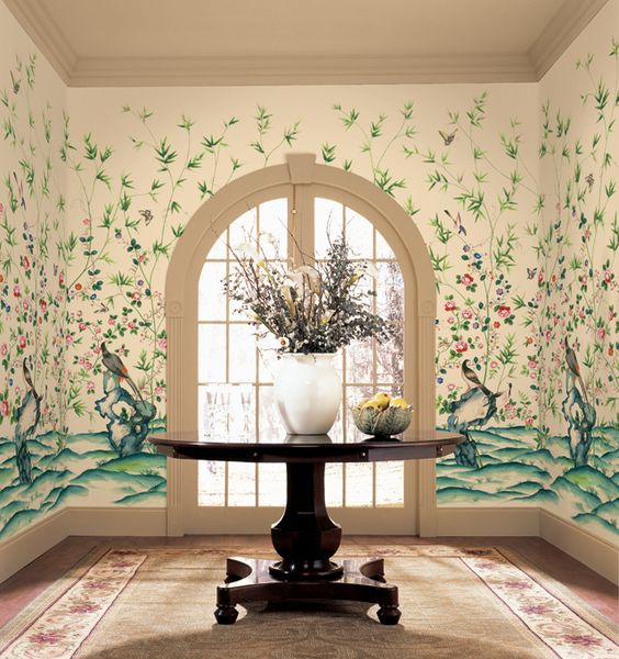 Awesome Entry!  Height: 9 ft, Width: 10.5ft, 7 panels, document (paper panel) style landscape, asian inspiration, multiple murals can be used in a room $479.95