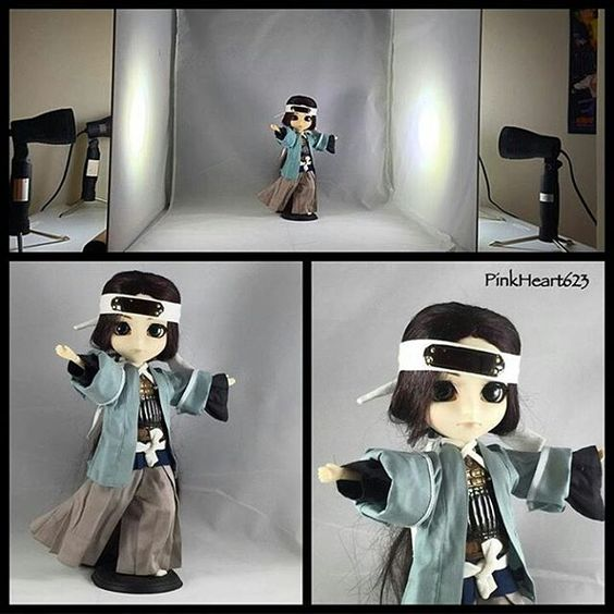 """""""Finally got one! Table top photography set up.. !"""" says fellow customer @pinkheart623 as she shows her favorite character. Great work!  Check out her page for more related posts. #phototent #tabletop #photostudio #photographylovers #photographylighting #behindthescenes #toyphotography #toystagram #SoujiOkita #HakuokiShinsengumi for  #nintendo3ds #limostudio"""