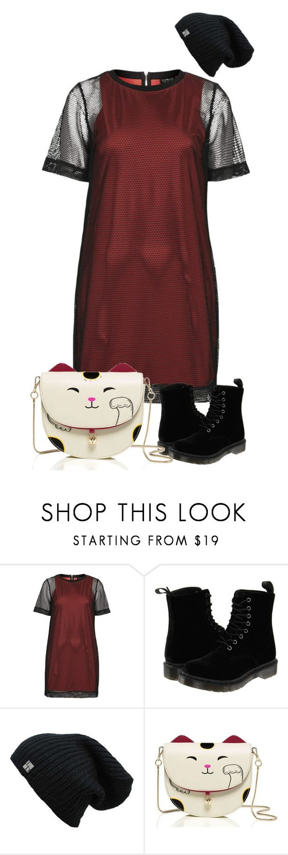 """""""Untitled #52"""" by arianasnickerss ❤ liked on Polyvore featuring мода, Topshop и Dr. Martens"""