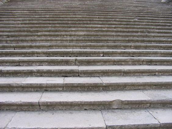 Stairs towards the Catedral de Santa María de Gerona, Gerona, Spain
