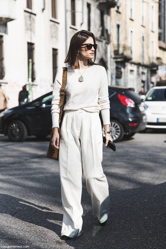 Milan_Fashion_Week-Fall_Winter_2015-Street_Style-MFW-Maria_Dueñas_Jacobs-White_Outfit-: