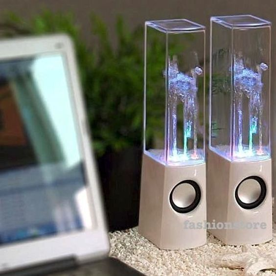 CASSE PC CON ACQUA ALTOPARLANTI WATER DANCING SPEAKERS LED MP3 SMARTPHONE TABLET