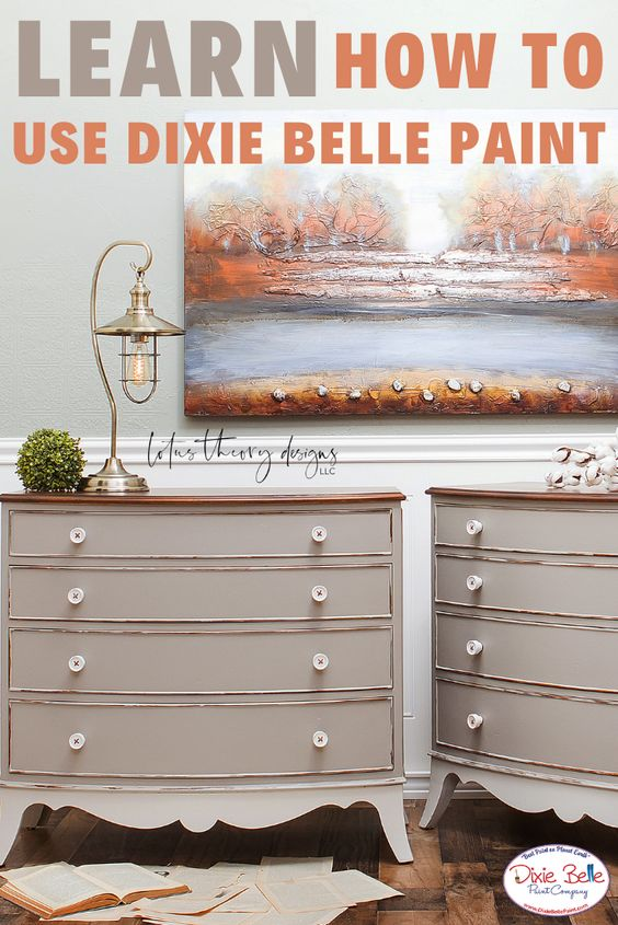 New Colors Sawmill Gravy And French Linen Learn How To Paint With Dixie Belle Paint Today Dixie Belle Paint French Painted Furniture Painting Furniture Diy