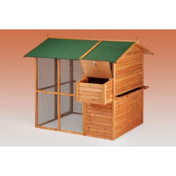 Gallinero prefabricado de madera bruselas avicultura - Prefabricados de madera ...