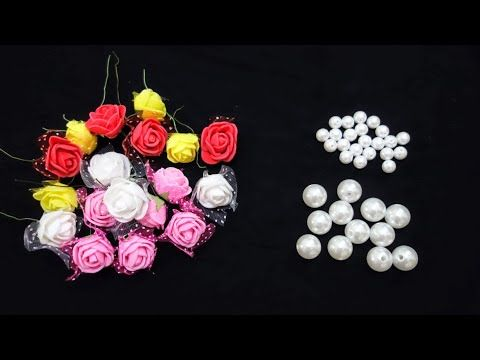 2 Beautiful Rakhi With Foam Flower And Pearl Lumka Rakhi Designs How To Make Rakhi At Home Youtube Rakhi Making Rakhi Design Foam Flowers