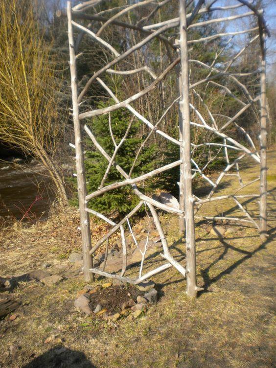 Tree Branch Arch Small Flower Garden Plans Pinterest