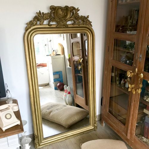 miroir louis philippe avec fronton