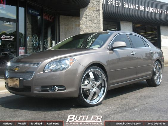 Chevrolet Malibu With 22in Mht Shifter Wheels Exclusively From Butler Tire Chevrolet Malibu Chevy Malibu Malibu