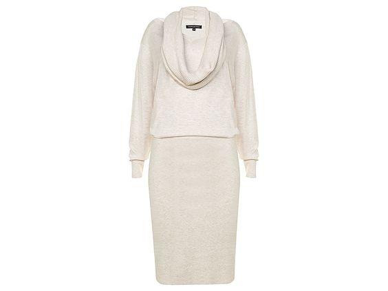 Vrouwelijke jurk van Tramontana, met wijde rolkraag en getailleerde pasvorm. De heerlijk zachte viscosemix draagt comfortabel en sluit mooi om het lichaam. (Kraag wordt los geleverd; jurk kan met en zonder worden gedragen). #tramontana #winter #collection #new #design #fashion #style #fashionblogger #outfitoftheday #viscose #conceptstore #weidesign #weidesignandmore #hipshops #hipshopshaarlem #webshop #online