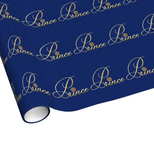 Red and Royal Blue Prince Gift Wrap
