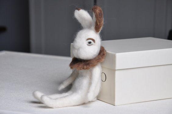 A Rabbits story OOAK handmade vilten konijntje by BSofies on Etsy