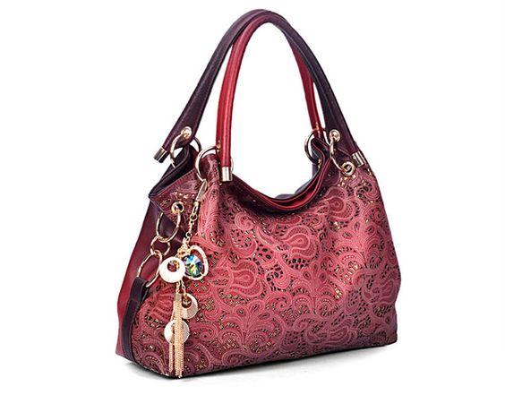 Fashion Openwork and Tassels Design Women's Tote Bag | NastyDress.com