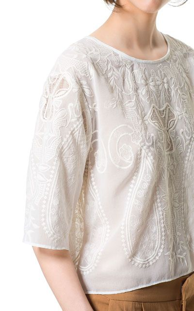 Embroidered shirt by ZARA