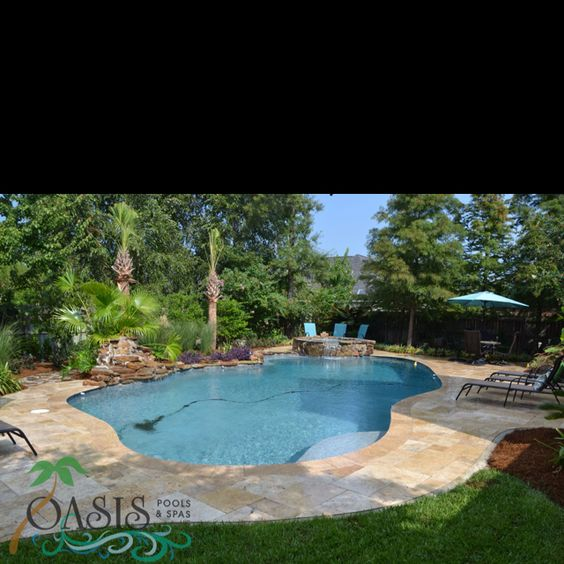 Beautiful Lagoon Shaped Pool In Mandeville La By Oasis